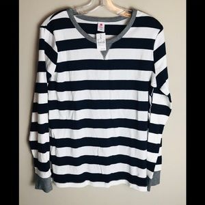 NWT Navy Stripe Long Sleeve Sleepshirt Women Large